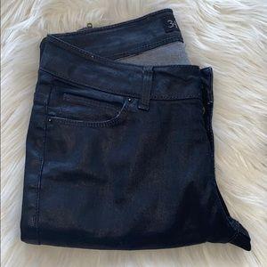 Zara Shiny Coated Skinny Jeans